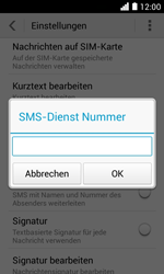 Huawei Ascend Y330 - SMS - Manuelle Konfiguration - Schritt 6