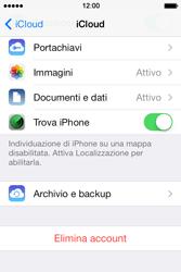 Apple iPhone 4S iOS 7 - Applicazioni - Configurazione del servizio Apple iCloud - Fase 11