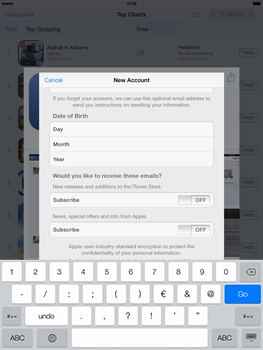 Apple iPad mini retina - Applications - setting up the application store - Step 16