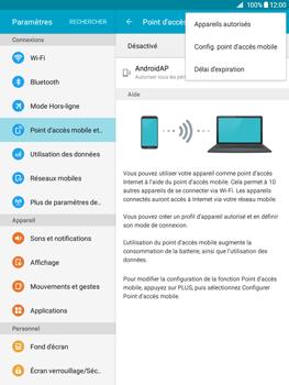 Samsung Galaxy Tab A - Internet et connexion - Partager votre connexion en Wi-Fi - Étape 7