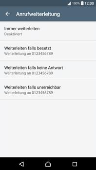 Sony F3211 Xperia XA Ultra - Anrufe - Rufumleitungen setzen und löschen - Schritt 6