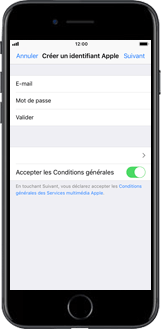 Apple iPhone SE - iOS 12 - Applications - Créer un compte - Étape 9