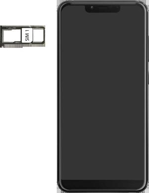 Wiko View 2 Plus - Toestel - simkaart plaatsen - Stap 4