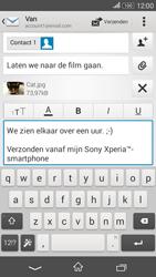 Sony E2003 Xperia E4G - e-mail - hoe te versturen - stap 14