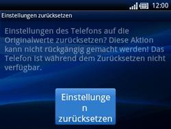 Sony Ericsson Xperia X10 Mini Pro - Fehlerbehebung - Handy zurücksetzen - Schritt 9
