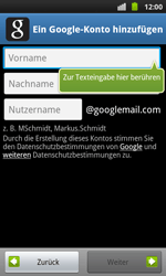 Samsung I9001 Galaxy S Plus - Apps - Konto anlegen und einrichten - Schritt 6