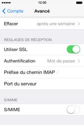 Apple iPhone 4 S iOS 7 - E-mail - Configuration manuelle - Étape 24