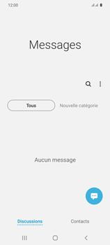 Samsung Galaxy S20 - Contact, Appels, SMS/MMS - Envoyer un SMS - Étape 4