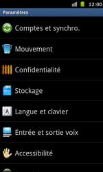 Samsung Galaxy S Advance - Téléphone mobile - Réinitialisation de la configuration d