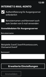 Nokia Lumia 800 / Lumia 900 - E-Mail - Manuelle Konfiguration - Schritt 14