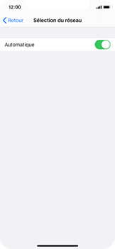 Apple iPhone X - iOS 13 - Réseau - Sélection manuelle du réseau - Étape 5