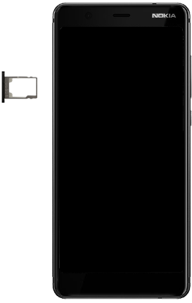 Nokia 5.1 - Toestel - simkaart plaatsen - Stap 8