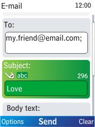 Nokia X2-00 - E-mail - Sending emails - Step 9