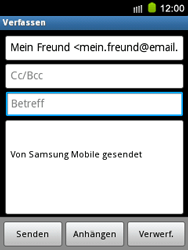 Samsung S5570 Galaxy Mini - E-Mail - E-Mail versenden - Schritt 8