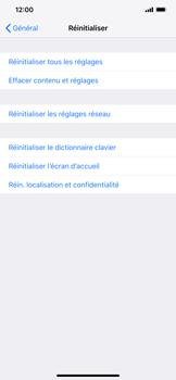 Apple iPhone XS Max - Appareil - Réinitialisation de la configuration d