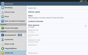 Samsung P5220 Galaxy Tab 3 10-1 LTE - Software updaten - Update installeren - Stap 5