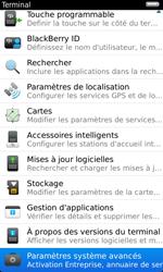 BlackBerry 9860 Torch - Paramètres - Reçus par SMS - Étape 5