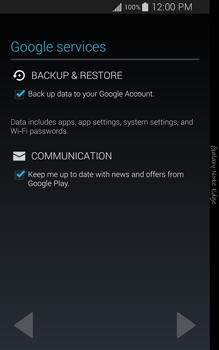 Samsung Galaxy Note Edge - Applications - Setting up the application store - Step 13