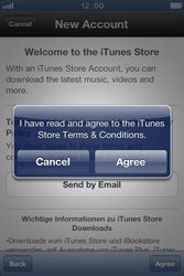 Apple iPhone 4 S - Applications - Create an account - Step 7