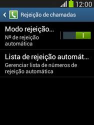 Samsung S5310B Galaxy Pocket Neo - Chamadas - Como bloquear chamadas de um número específico - Etapa 8