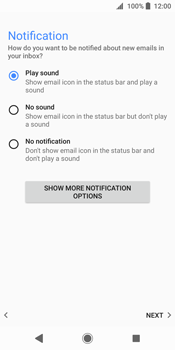 Sony Xperia XZ2 - E-mail - Manual configuration (outlook) - Step 15