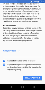 ZTE Blade V9 - Applications - Create an account - Step 16
