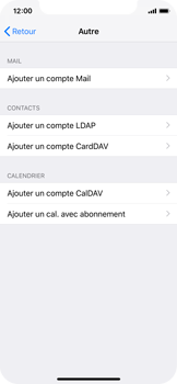 Apple iPhone X - iOS 12 - E-mail - Configuration manuelle - Étape 6