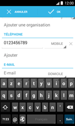 Bouygues Telecom Bs 403 - Contact, Appels, SMS/MMS - Ajouter un contact - Étape 11