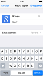 Apple iPhone 5s iOS 8 - Internet et roaming de données - Navigation sur Internet - Étape 8