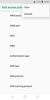 ZTE Blade V9 - Internet - Manual configuration - Step 16