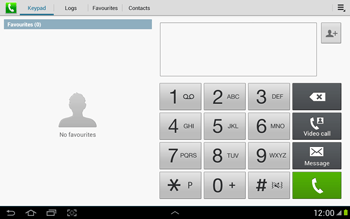 Samsung N8000 Galaxy Note 10-1 - Voicemail - Manual configuration - Step 4