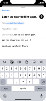 Apple iPhone X - iOS 13 - E-mail - e-mail versturen - Stap 7
