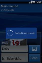 Sony Ericsson Xperia X8 - MMS - Erstellen und senden - Schritt 17