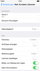 Apple iPhone 6 iOS 8 - E-Mail - Manuelle Konfiguration - Schritt 15