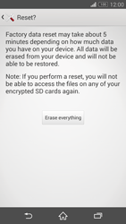 Sony Xperia Z3 Compact - Mobile phone - Resetting to factory settings - Step 7