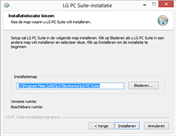 LG E460 Optimus L5 II - software - pc suite installeren - stap 5