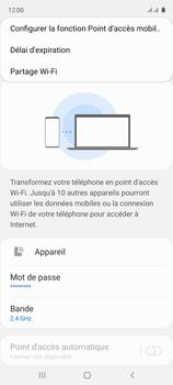 Samsung Galaxy A51 - Internet et connexion - Partager votre connexion en Wi-Fi - Étape 8