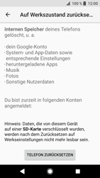Sony Xperia XZ - Fehlerbehebung - Handy zurücksetzen - 9 / 12