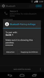 LG Google Nexus 5 - Bluetooth - Geräte koppeln - 0 / 0