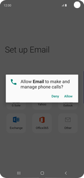 Samsung Galaxy S10 - E-mail - 032c. Email wizard - Outlook - Step 12