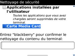 BlackBerry curve 3G - Aller plus loin - Restaurer les paramètres d'usines - Étape 7