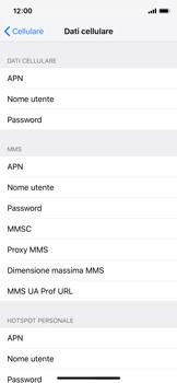 Apple iPhone X - iOS 12 - Internet e roaming dati - Configurazione manuale - Fase 6
