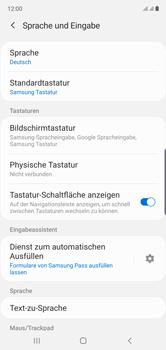Samsung Galaxy Note 10 - Startanleitung - So fügen Sie eine Tastatursprache hinzu - Schritt 6