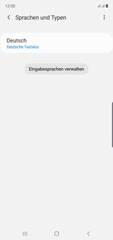 Samsung Galaxy Note 10 - Startanleitung - So fügen Sie eine Tastatursprache hinzu - Schritt 9
