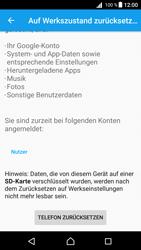 Sony Xperia Z5 (E6653) - Android Nougat - Fehlerbehebung - Handy zurücksetzen - Schritt 8