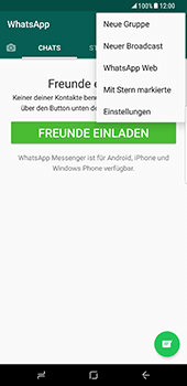 Samsung Galaxy S8 Plus - Datenschutz und Sicherheit - WhatsApp schützen und Datenschutz verwalten - 5 / 18