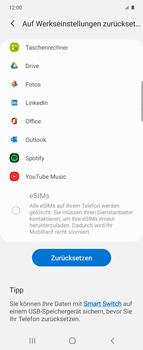 Samsung Galaxy Z flip - Gerät - Zurücksetzen auf die Werkseinstellungen - Schritt 7