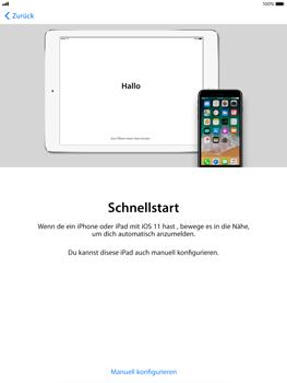 Apple iPad Pro 9.7 inch - iOS 11 - Persönliche Einstellungen von einem alten iPhone übertragen - 0 / 0