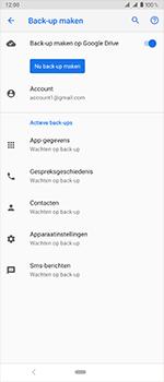Sony Xperia 1 - Beveiliging en privacy - maak een backup met je account - Stap 11