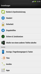 HTC One Max - Gerät - Zurücksetzen auf die Werkseinstellungen - Schritt 4